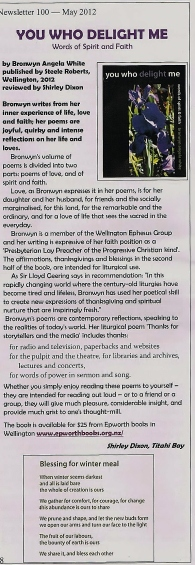 Shirley Dixon's lovely review in SOF newsletter