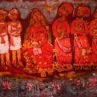 1980 P. Solomon Raj, Nativity, 1980s. Batik