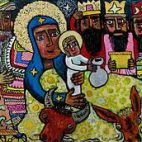 2004 Adoration of the Three Kings by Brian Whelan 2004