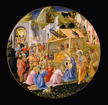 Adoration of the Magi by Fra Angelico and Filippo Lippi
