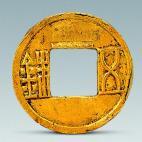 Han gold coin