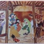 The birth of Jesus Christ - by Kim Ki-chang a.k.a. Woonbo
