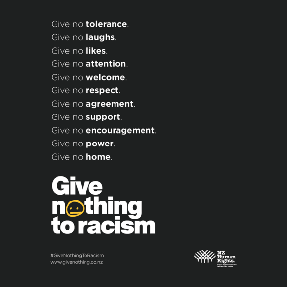 Give nothing to racism