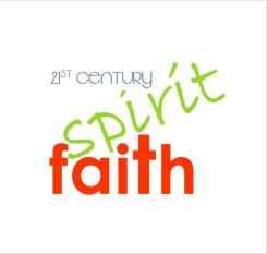 spirit & faith logo orange green